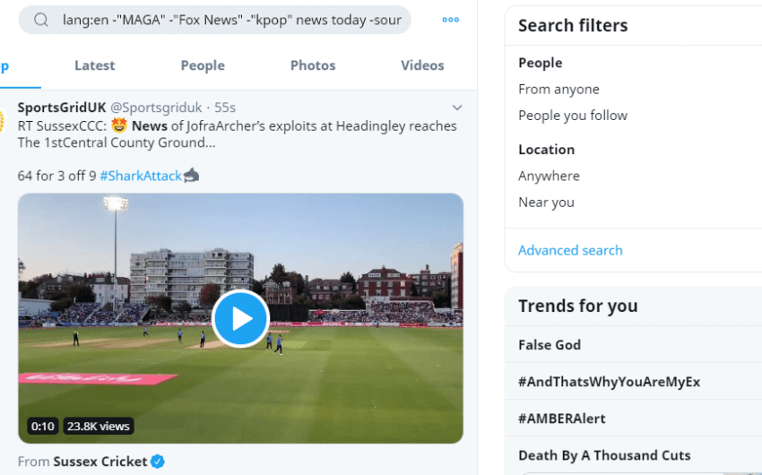 Twitter search secrets (Find/Filter/Exclude beyond Advanced Search)