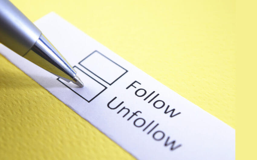 Social Media websites only hate you when you start unfollowing other people